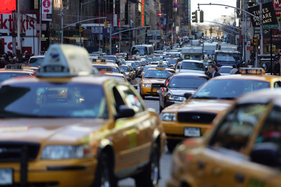 New York traffic. Getty Images.