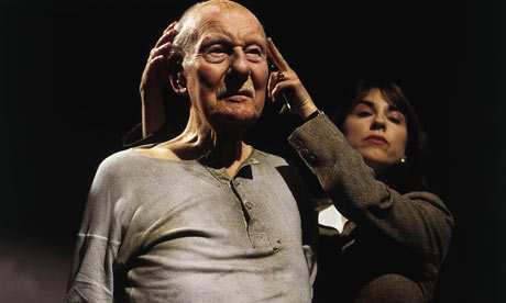 John Gielgud and Rebecca Pidgeon in a 2001 TV production of Beckett's Catastrophe Photograph: Channel 4 Television/PR