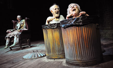 Mark Rylance, Tom Hickey and Miriam Margolyes in Endgame at the Duchess. Photograph: Tristram Kenton
