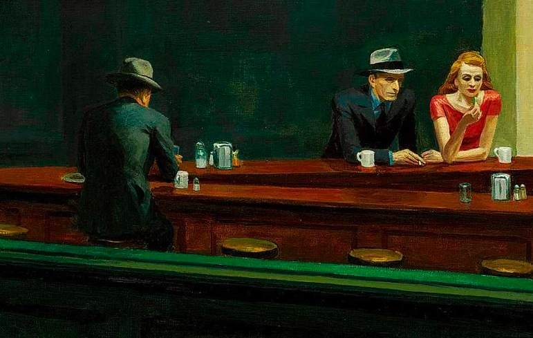 A detail from Edward Hopper's Nighthawks