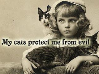 Mis gatos me protejen del diablo