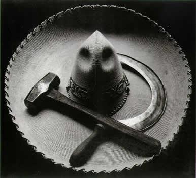 Tina Modotti, Sombrero mejicano con hoz y martillo, 1927