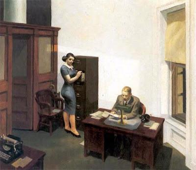 De noche en la oficina, 1940