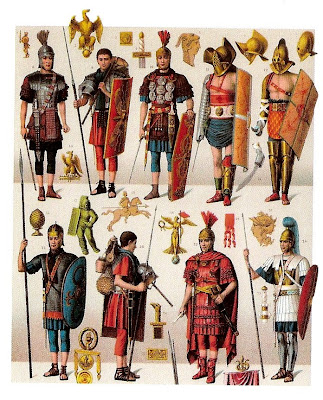 IMPERIAL PERIODS.MILITARY UNIFORMS ,SOLDIERS AND GLADIATORS ( DETAIL