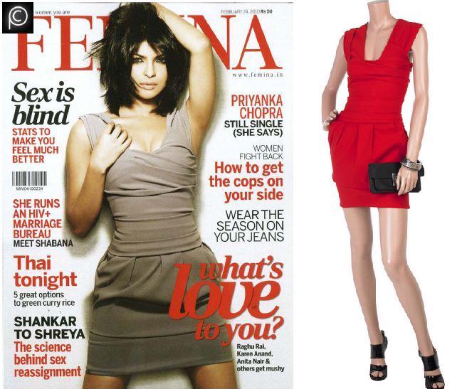 Priyanka Chopra Pressn Femina Feb 2010 cover