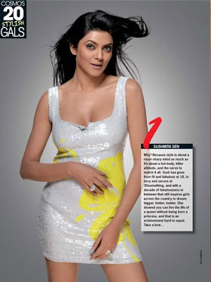 Sushmita Sen Cosmopolitan Jan 09 Most stylish girl in bollywood