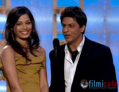 Shahrukh Khan Freida Pinto 66th Annual Golden Globe Awards
