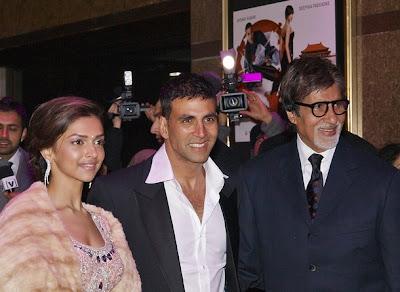 Amitabh Bachchan Akshay Kumar Deepika Padukone Chandni Chowk to China premiere London