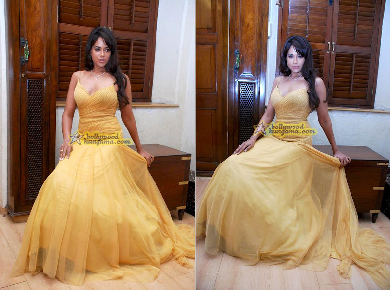 Sameera Reddy Kemps corner yellow dress Falguni and Shane Peacock