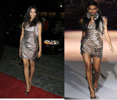 Freida Pinto Director's Guild of America Awards DGA Awards Zac Posen shimmer dress Spring Ready to Wear 2009