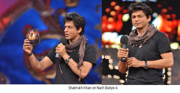 Shahrukh Khan brown red check scarf Golden Globes Nach Baliye 4