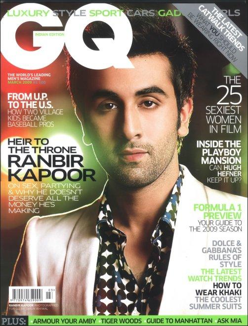Ranbir Kapoor GQ magazine