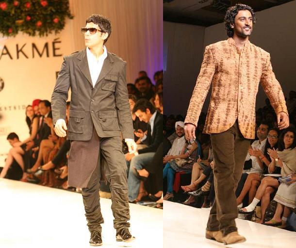 Farhan Akhtar Kunal Kapoor Lakme Fashion Week Mai Mumbai charity event