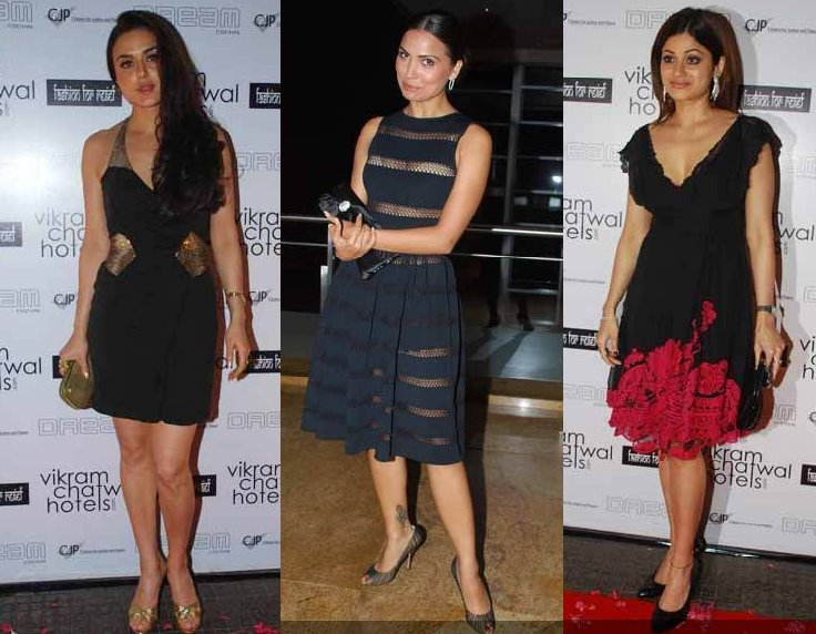Lara Dutta Preity Zinta Shamita Shetty Lakme Fashion Week