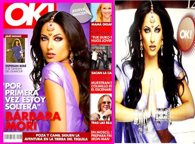 Barbara Moi sari Ok magazine