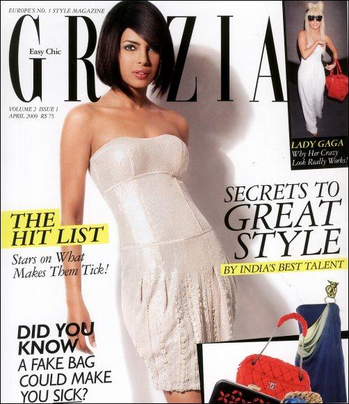 Priyanka Chopra Grazia cover