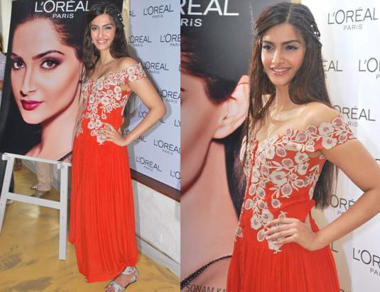 Sonam Kapoor Loreal brunch