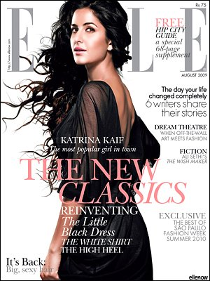 Katrina Kaif Elle India September 09 Amit Agarwal Morphe black dress