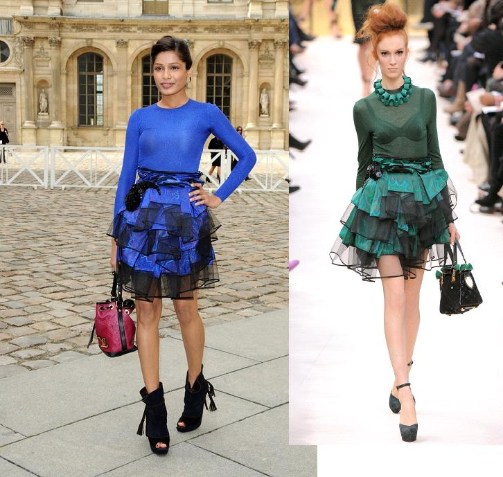 Freida Pinto Louis Vuitton Paris Fashion Week