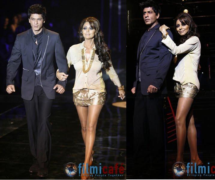 Gauri Khan Shahrukh Khan Karan Johar HDIL Couture Week