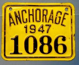 Anchorage (Alaska) city plate #1086