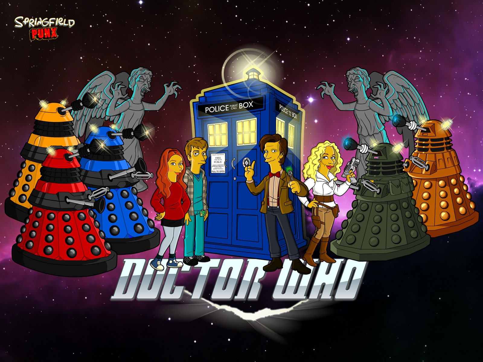 Springfield Punx Doctor Who Wallpaper