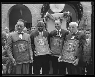 Roush, Jackie Robinson, Bob Feller, Bill McKechnie, HOF 1962