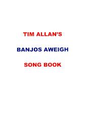 Tim Allan's BANJOS AWEIGH   SONG BOOK