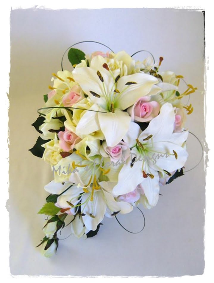 Wedding Flowers Roses And Lilies : Artificial wedding flowers and bouquets australia mixed