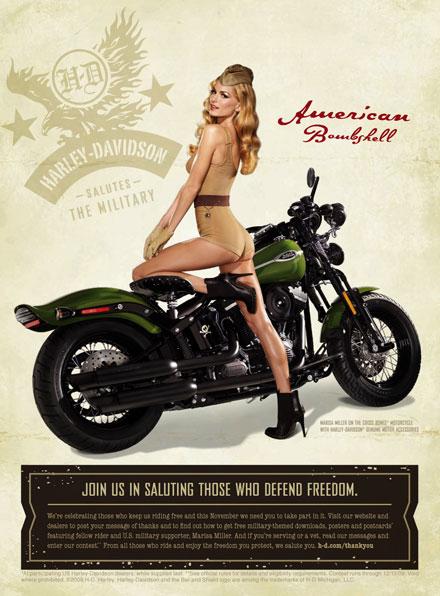 Marisa Miller-Harley Davidson-Pinup-fashionablyfly.blogspot.com
