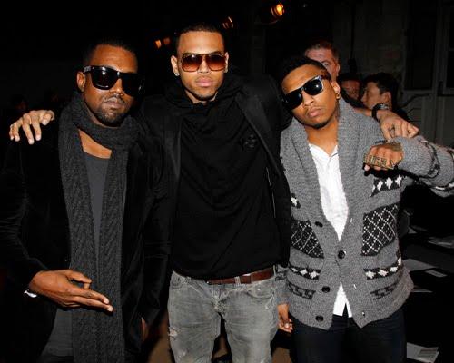 Kanye+Amber Rose+Chris Brown+fashionweek Milan-fashionablyfly.blogspot.com