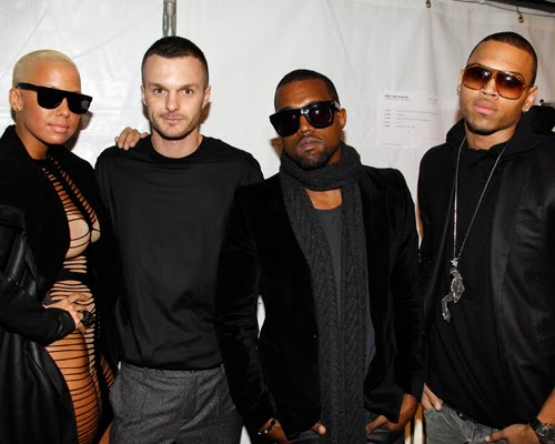 Kanye+Amber Rose+Chris Brown+fashionweek Milan-fashionablyfly.blogspot.com