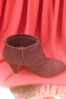 Payless purple booties fashionablyfly.blogspot.com