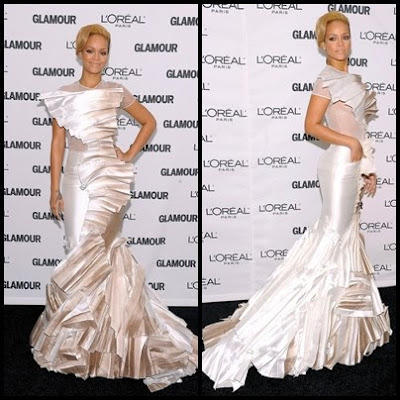 Rihanna Stephane Rolland Dress FashionablyFly.blogspot.com