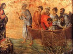 Icono que muestra la escena de la aparición de Jesús junto al lago Tiberiades