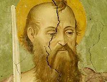Imagen de San Pablo en un fresco de la Basílica de San Pablo Extramuros en Roma