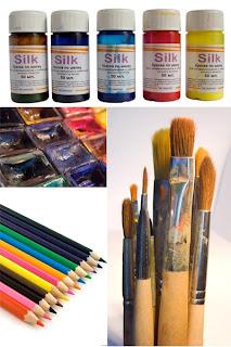 краски кисти карандаши клипарт