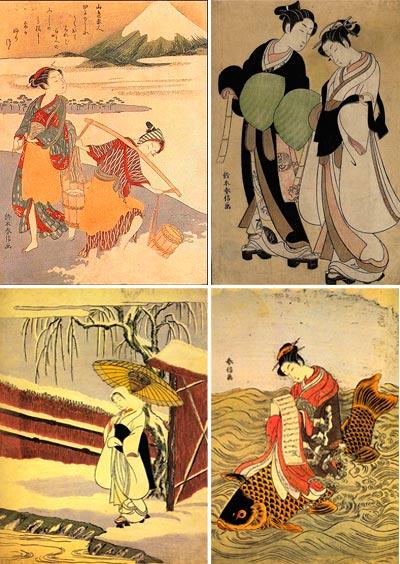 Японский художник Сузуки Харунобу (Suzuki Harunobu)