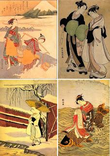 Гравюры и живопись мастера цветной ксилографии японского художника Сузуки Харунобу