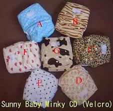 SUNNY BABY  MINKY VELCRO-RM33