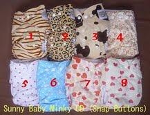 SUNNY BABY MINKY SNAP BUTTON-RM33