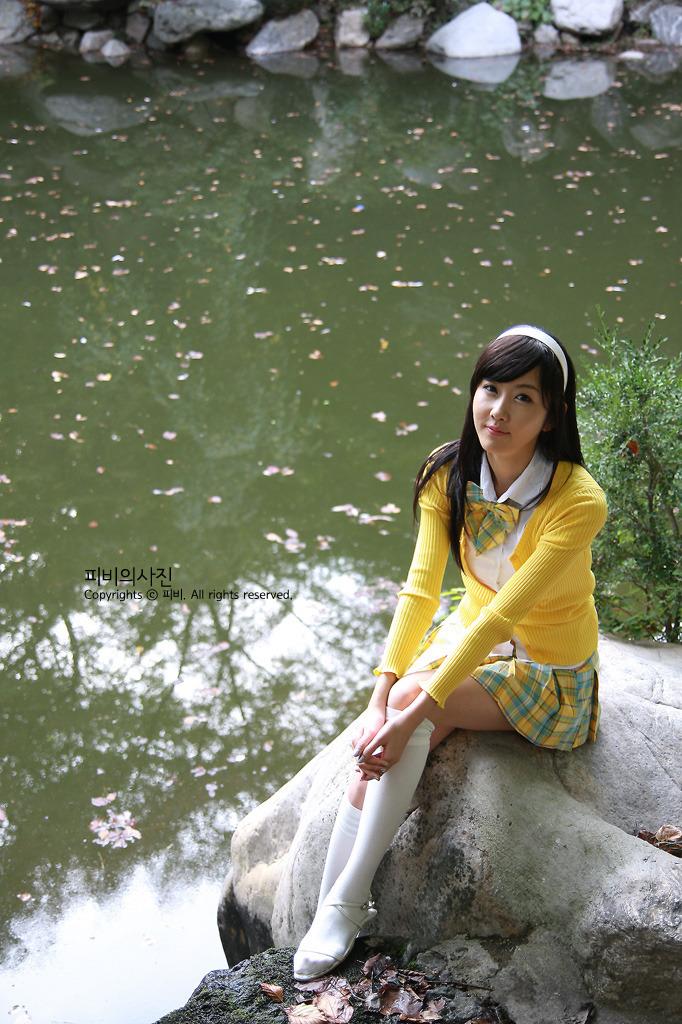 Cute school girl Choi Byul-I