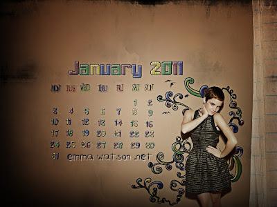 wallpaper 2011 calendar. Emma Watson 2011 Calendar