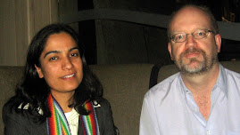 Bill Tieleman with visiting Afghan Member of Parliament Malalai Joya