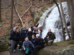 Chile Group hike on a chilly day in February