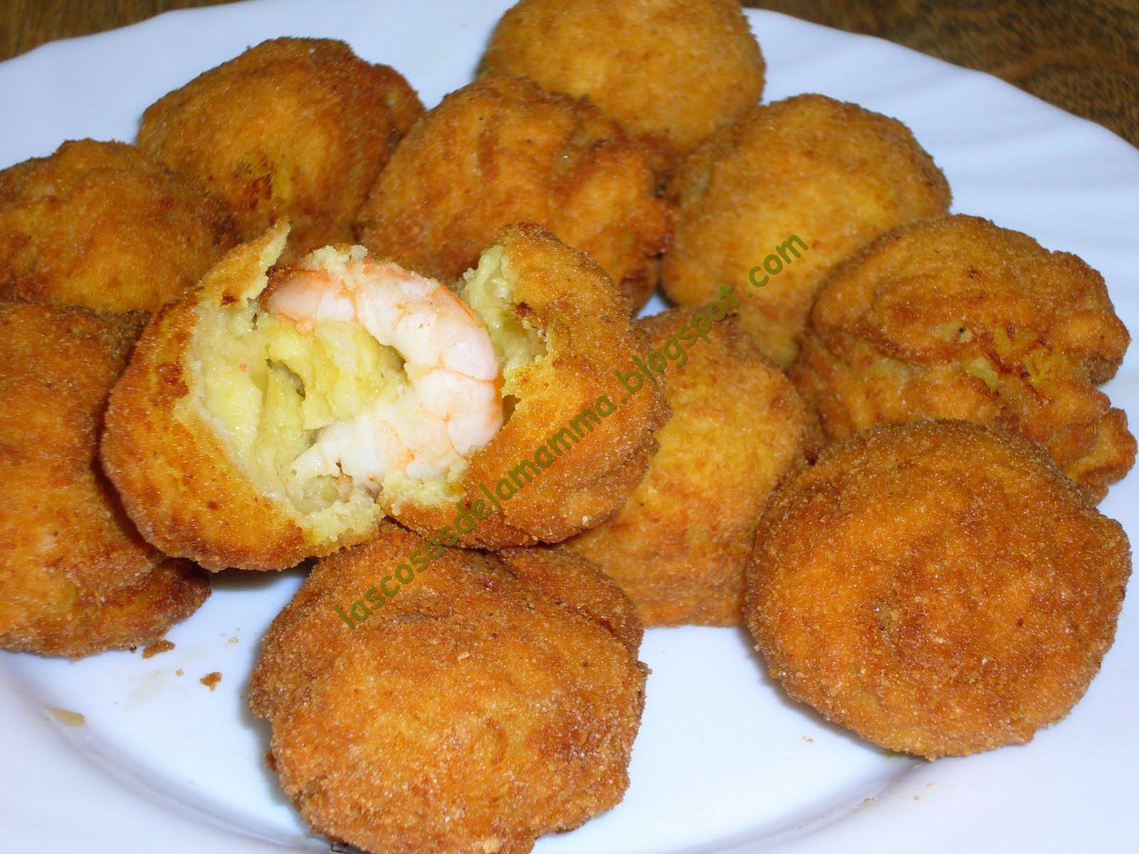 Las cosas de la mamma albondigas de patatas y gambas - Albondigas de patata ...