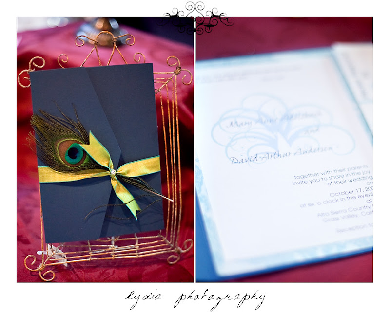 Invitations by Illuminated Invitations at the Nevada County Wedding Expo