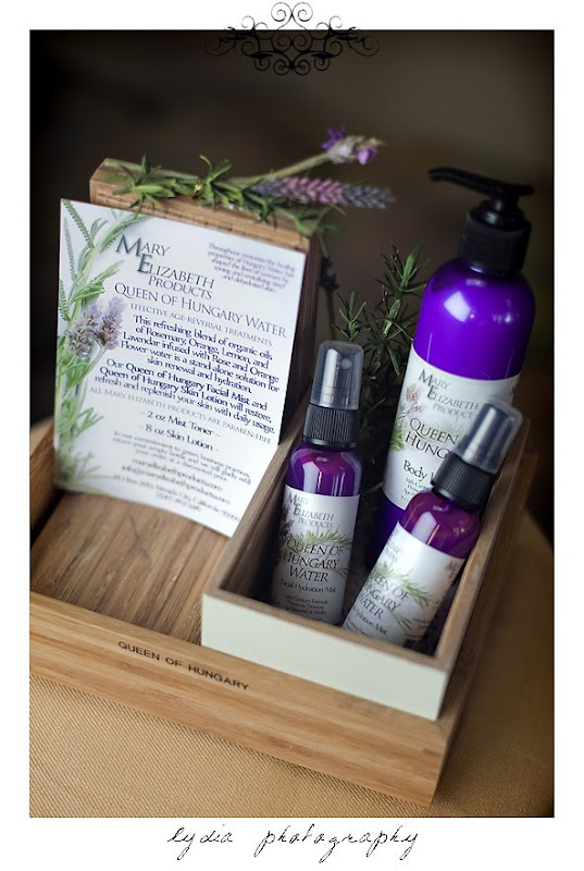 Commerical shot of Mary Elizabeth products
