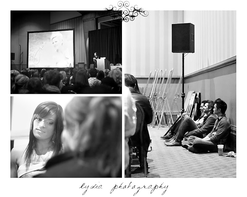 Jasmine Star's packed presentation with JD and David Jay looking on at WPPI in Las Vegas, Nevada