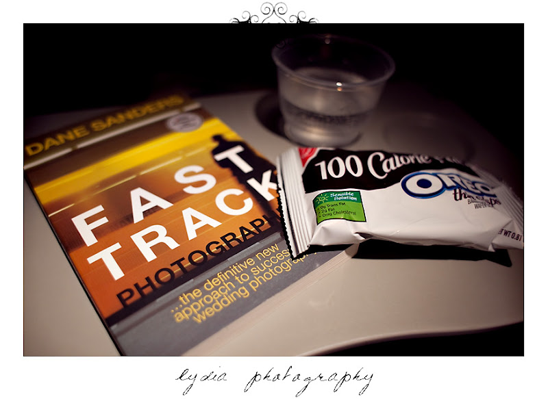 Reading Fast Track Photographer on the plane on my trip to Virginia